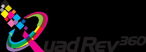 QuadRev UV Rotary Printer Logo