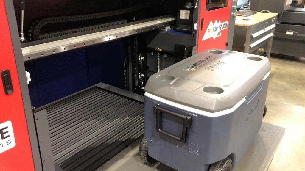 High quality and fast UV Printer for Coolers