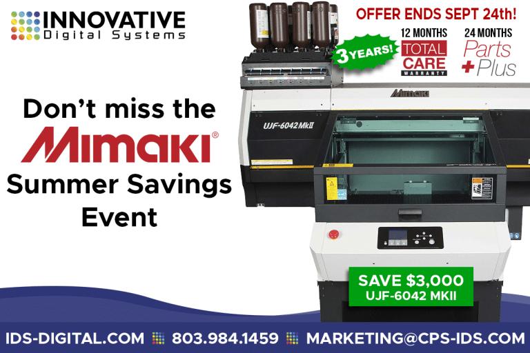 Current Mimaki UV printer price & promotions